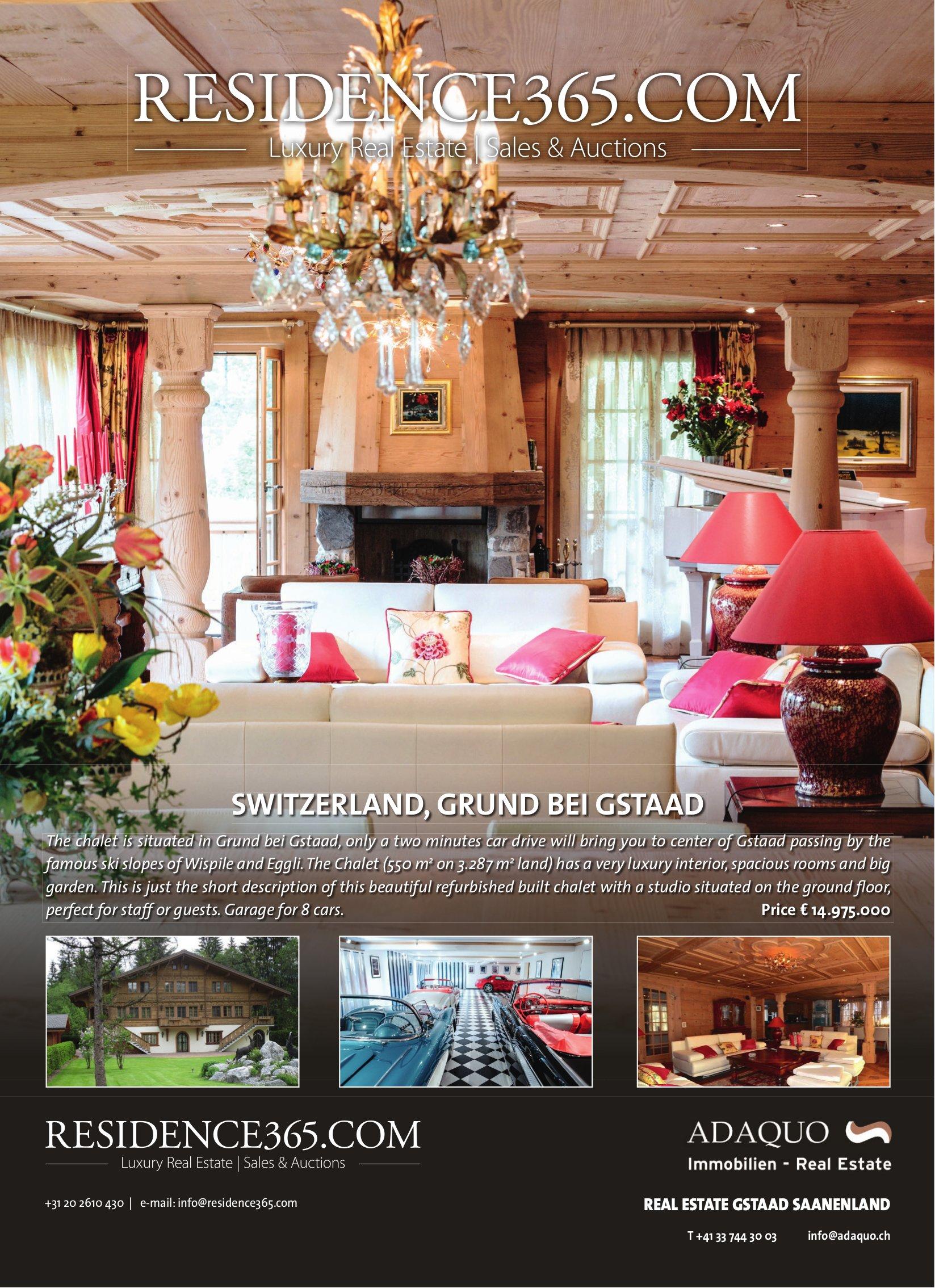 Chalet for sale, Grund bei Gstaad
