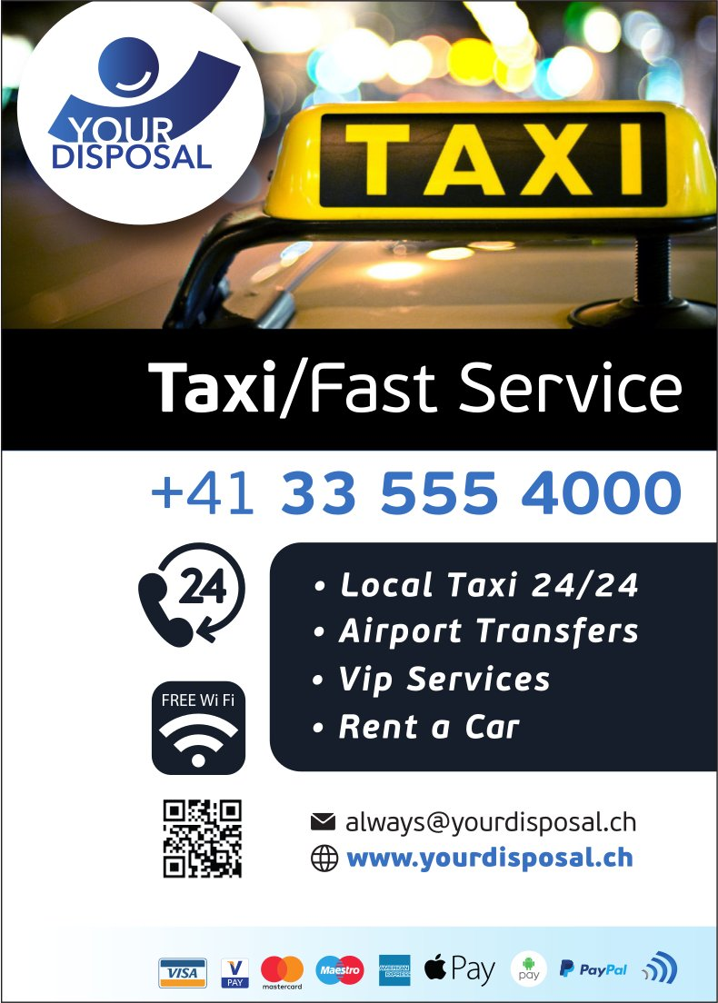 Taxi/Fast Service, Your Disposal