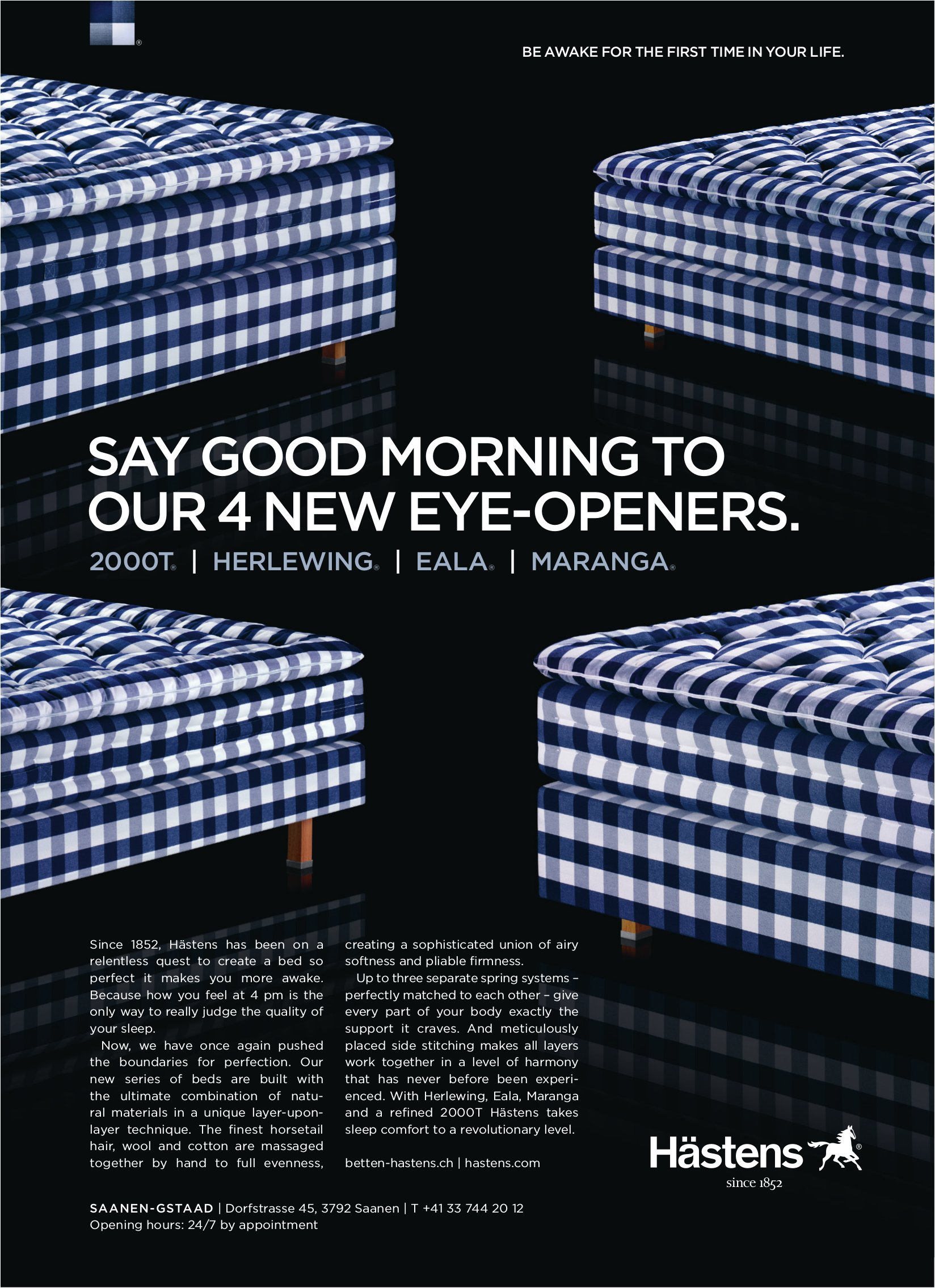 Say good morning to our 4 new eye-openers, Hästens Betten