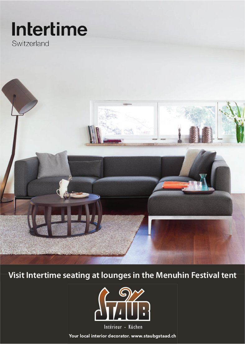Visit Intertime seating at lounges in the Menuhin Festival tent, Staub Intérieur - Küchen