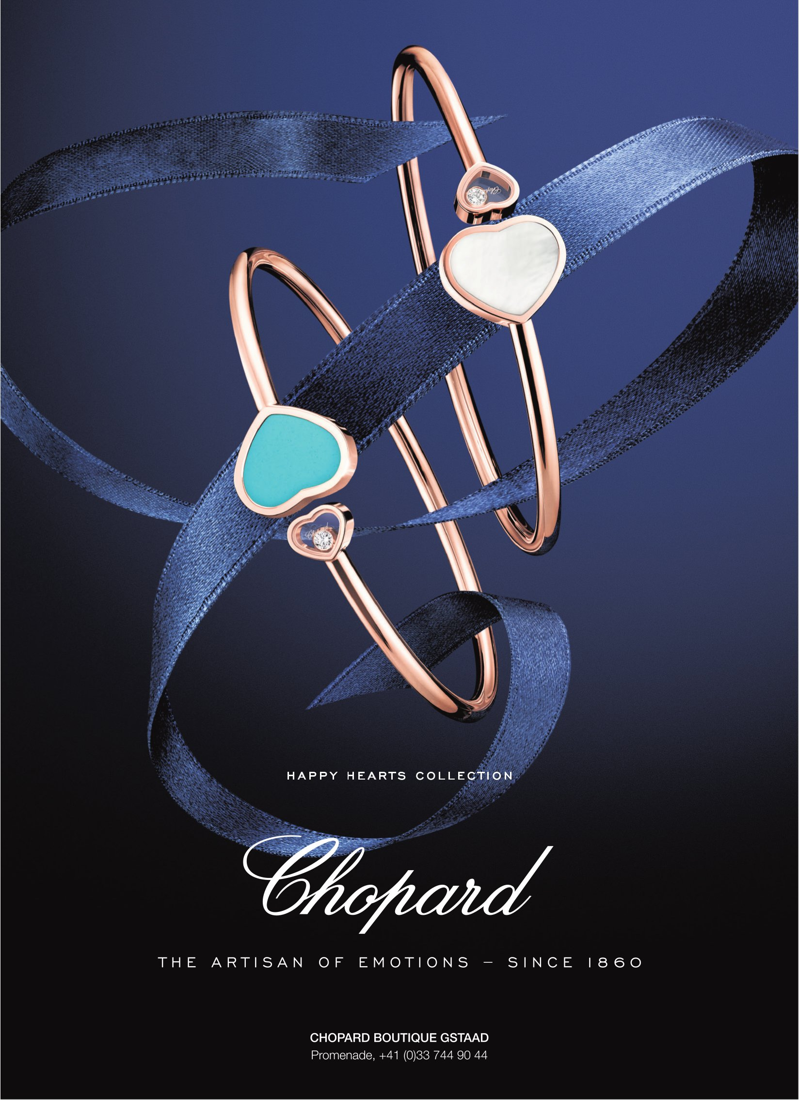 CHOPARD HAPPY HEARTS COLLECTION, CHOPARD BOUTIQUE GSTAAD