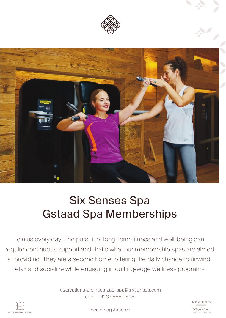 Six Senses Spa Gstaad Spa Memberships