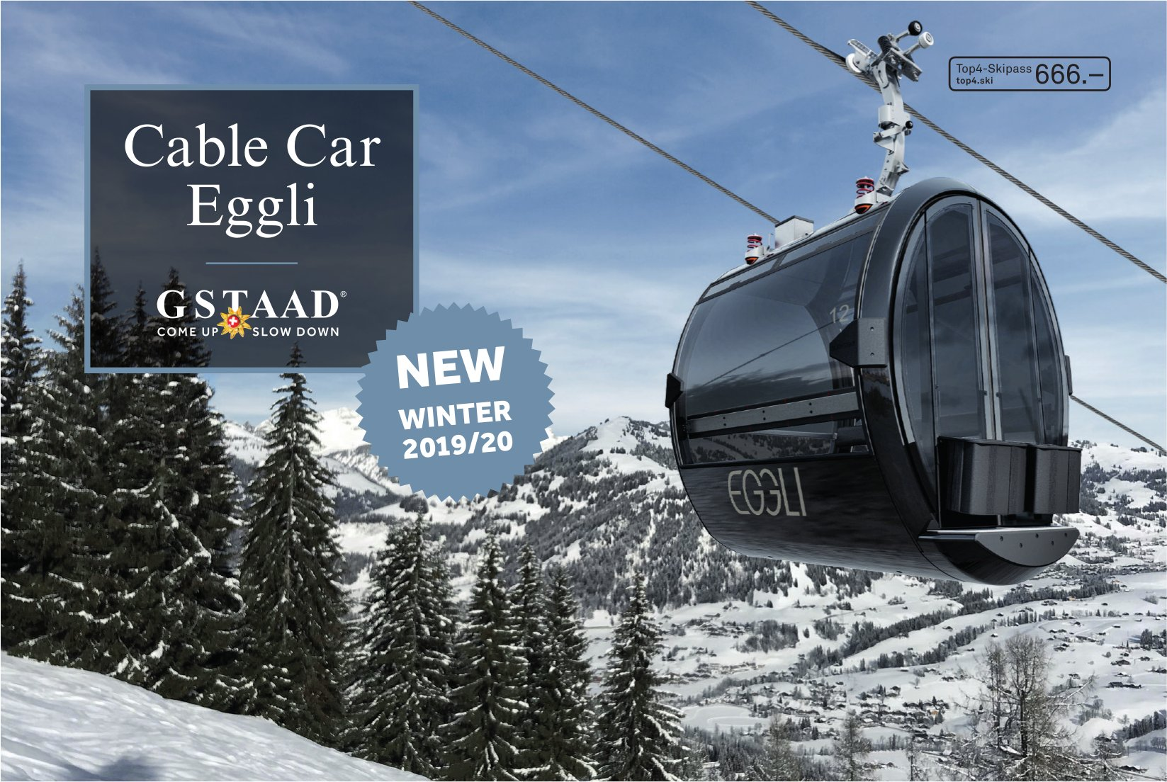 Cable Car Eggli, GSTAAD - NEW WINTER 2019/20