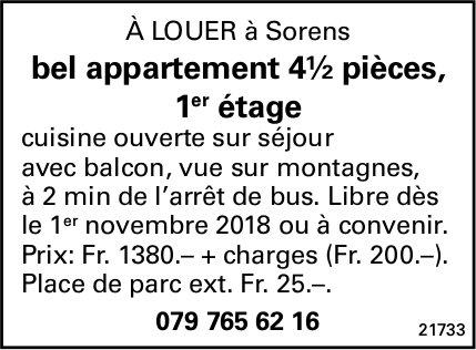 Appartement, 4.5 pièces, Sorens, à louer