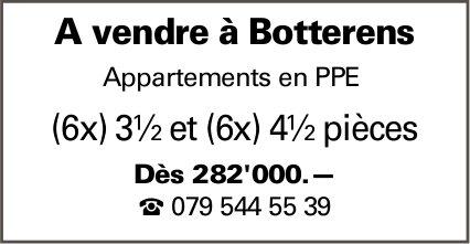 Appartements, 3.5 et 4,5 pièces, Botterens, à vendre
