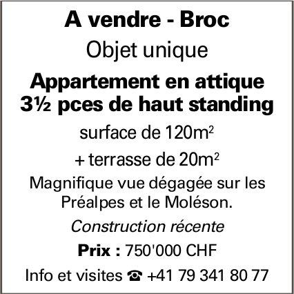 Appartement, 3.5 pièces, Broc, à vendre