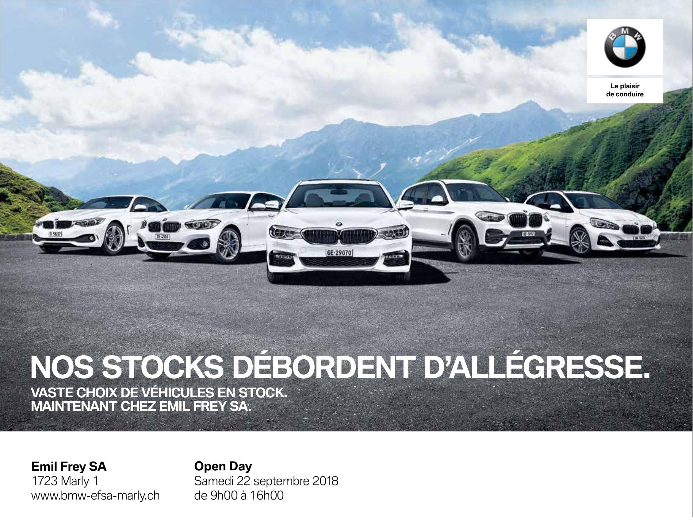 BMW - NOS STOCKS DÉBORDENT D'ALLÉGRESSE.