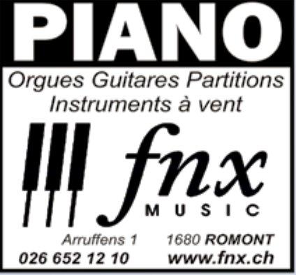 Fnx Music, Romont, Orgues Guitares Partitions Instruments à vent