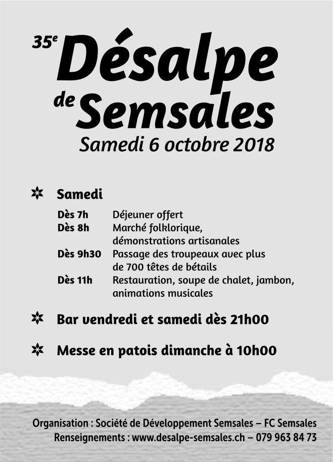 35 ieme Désalpe de Semsale, 6 octobre