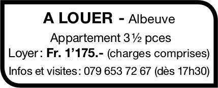 Appartement, 3.5 pièces, Albeuve, à louer