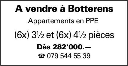Appartements en PPE, 3.5 et 4.5 pièces, Botterens, à louer
