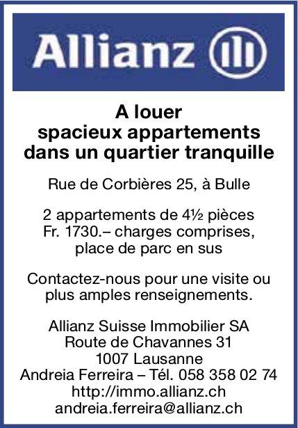 Spacieux appartements dans un quartier tranquille, 4.5 pièces, Bulle, à louer