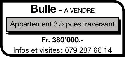 Appartement, 3.5 pièces, Bulle, à vendre