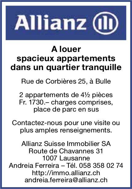 Spacieux appartements, 4.5 pièces, Bulle, à louer