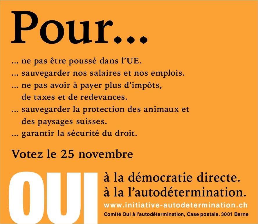 Voter le 25 novembre - Comité Oui à l'autodétermination