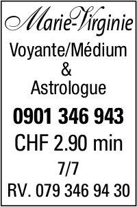 Marie-M Virginie Voyante/Médium & Astrologue - CHF 2.90 min