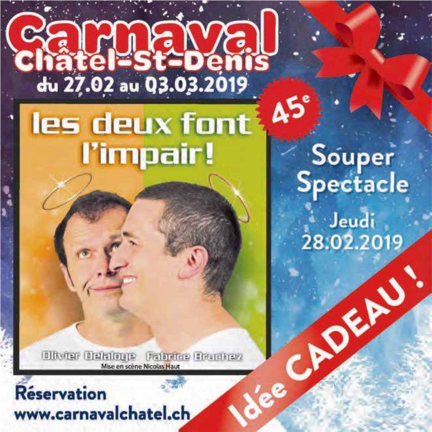 Carnaval, du 27.02 au 03.03.2019, Châtel-St-Denis, Idée cadeau