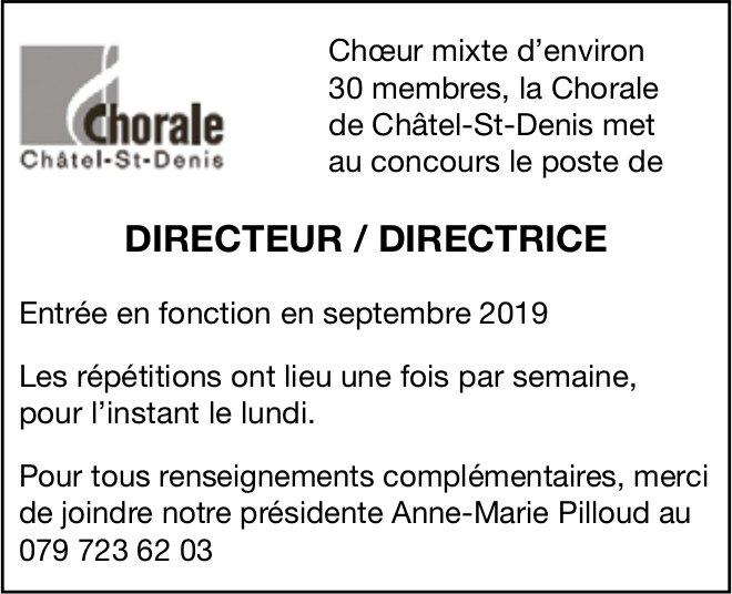 DIRECTEUR / DIRECTRICE, Chorale Châtel-St-Denis, recherché