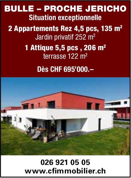 2 Appartements 4.5 pièces, Bulle, à vendre