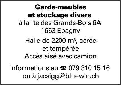 Garde-meubles et stockage divers, Epagny, Halle de 2200 m3, aérée et tempérée