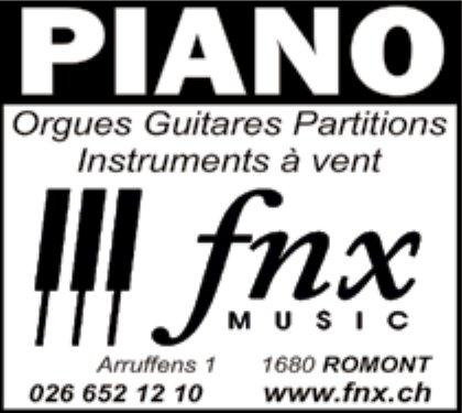 Music fnx, Romont, Orgue guitare partitions instruments à vent