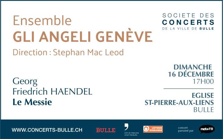 Ensemble Gli Angeli Genève, 16 décembre, Église St-Pierre-aux-liens, Bulle