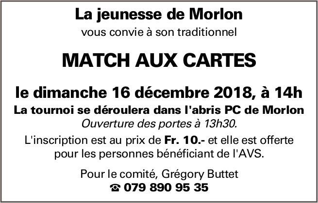 MATCH AUX CARTES, 16 décembre, l'abris PC, Morlon