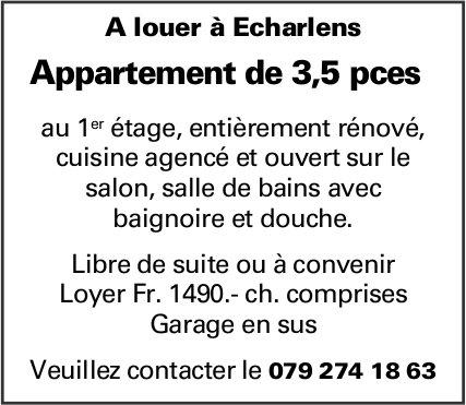 Appartement de 3,5 pièces, Echarlens, à louer