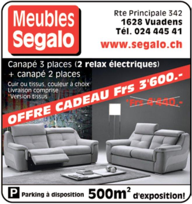 Meubles segalo, Vuadens, Offre cadeau Frs 3'600