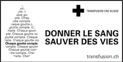 TRANSFUSION CRS SUISSE - DONNER LE SANG SAUVER DES VIES