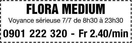 FLORA MEDIUM - Voyance sérieuse 7/7 de 8h30 à 23h30