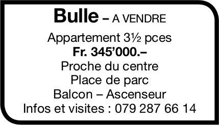 Appartement 3½ pièces, Bulle, à vendre