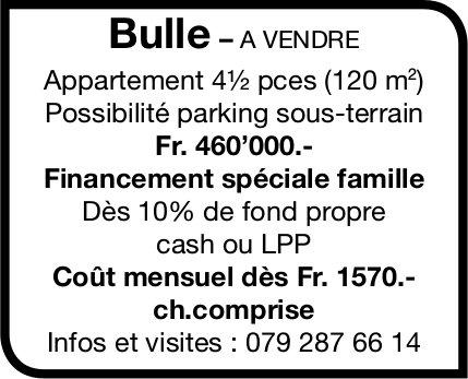 Appartement 4½ pièces (120 m2), Bulle, à vendre