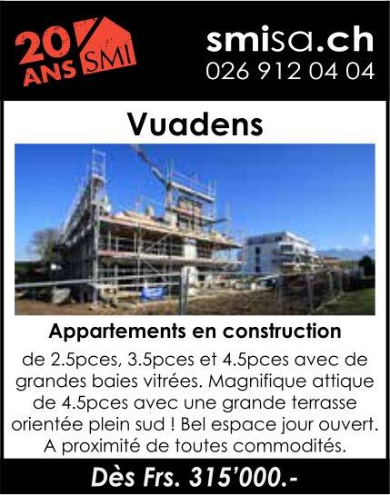Appartements en construction, Vuadens, à vendre