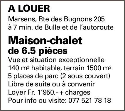 Maison-chalet de 6.5 pièces, Marsens, à louer