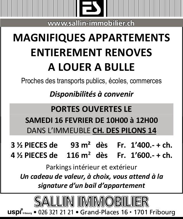 MAGNIFIQUESAPPARTEMENTS, 3.5 et 4.5 PIÈCES, À LOUER