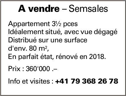 Appartement 3½ pces, Semsales, à vendre