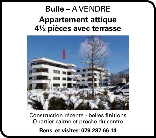 Appartement attique 4½ pièces avec terrasse, Bulle, à vendre