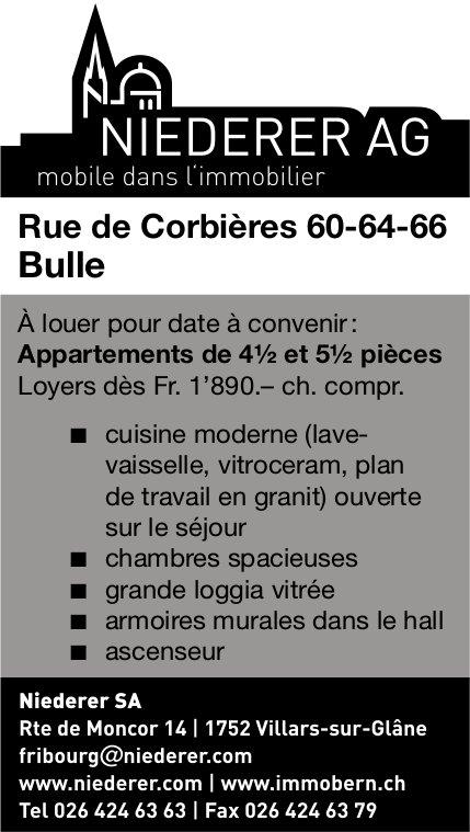 Appartements de 4½ et 5½ pièces, Bulle, à louer