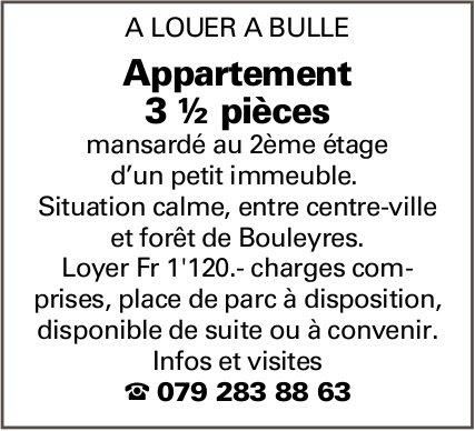 Appartement 3.5 pièces, Bulle, à louer