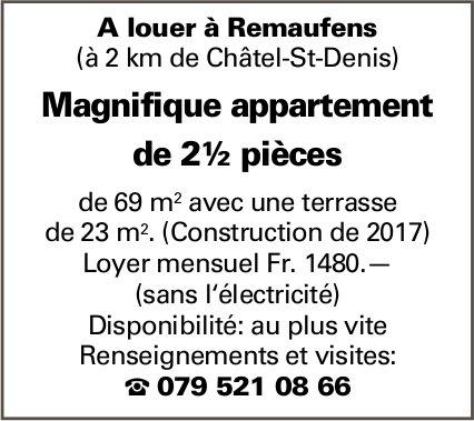 Appartement  2.5 pièces, Remaufens, à louer