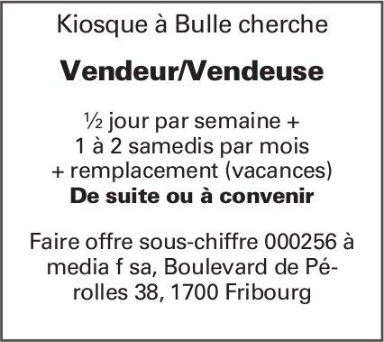 Vendeur/Vendeuse, Kiosque, Bulle, recherché