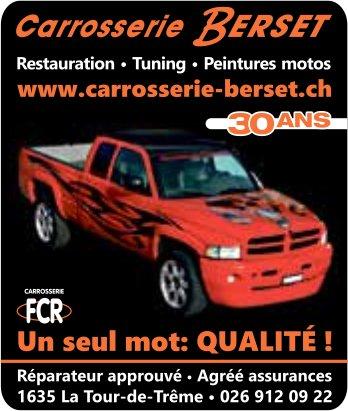 Carrosserie Berset, La Tour-de-Trême, Restauration - Tuning - Peintures motos