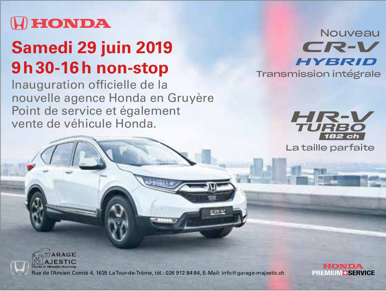 GARAGE MAJESTIC, La Tour-de-Trême, Samedi 29 juin inauguration la nouvelle agence Honda en Gruyère