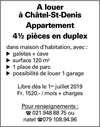 Appartement 4½ pièces, Châtel-St-Denis, à louer
