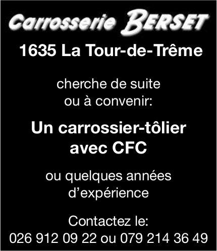Un carrossier-tôlier avec CFC, Carrosserie Berset, La Tour-de-Trême, recherché