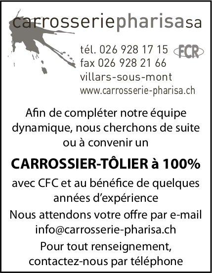 CARROSSIER-TÔLIER à 100%, Carrosseriepharisa SA, Villars-sous-Mont, recherché