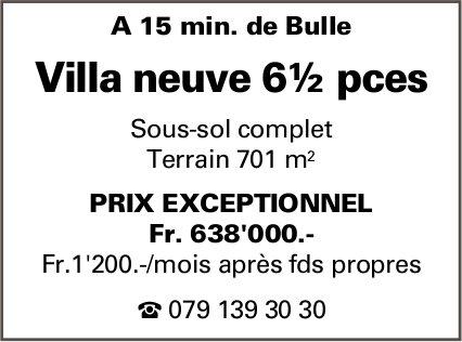 Villa neuve 6½ pièces, Bulle, à vendre