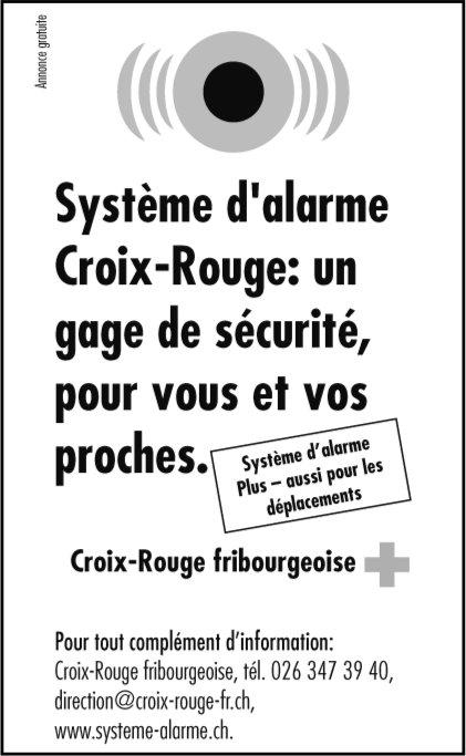 Système d'alarme Croix-Rouge - un gage de sécurité, pour vous et vos proches.