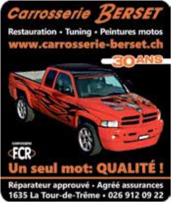 Carrosserie Berset, La Tour-de-Trême,  Restauration Tuning et Peintures motos